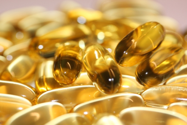 Omega-3 kapslar med fiskolja